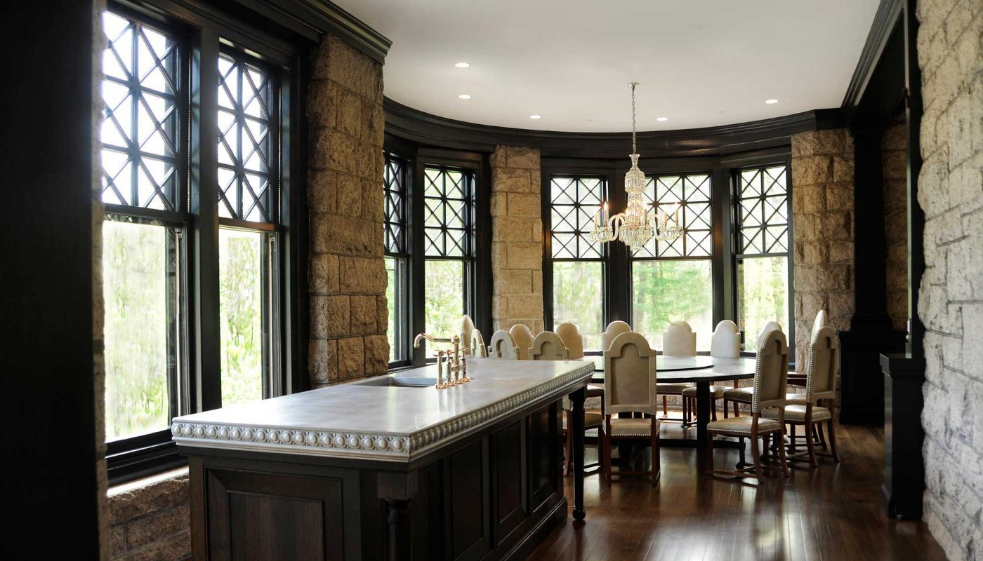 Dining room section with lots of windows - renovation