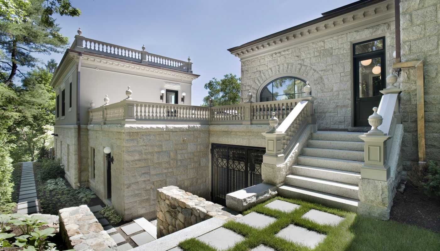 Outdoor courtyard architecture design