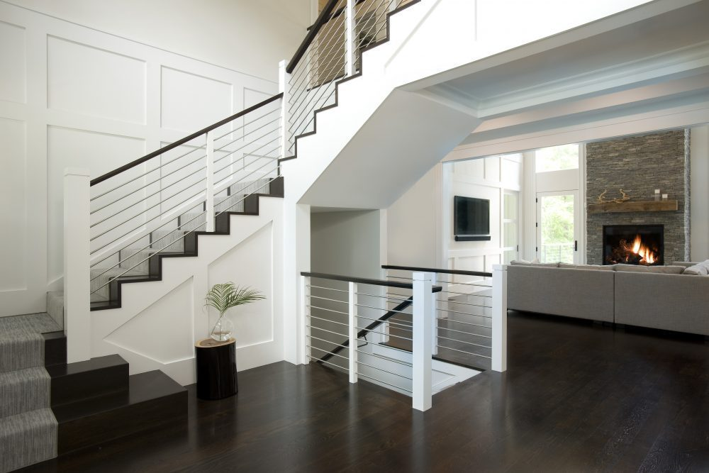 Custom Stairwell Design Weston, MA