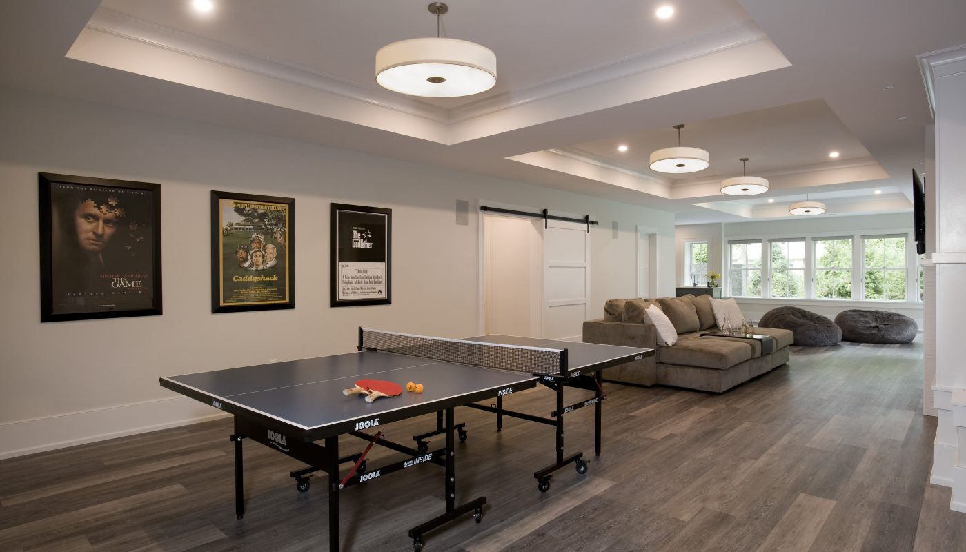 Recreation Room With Ping Pong Table