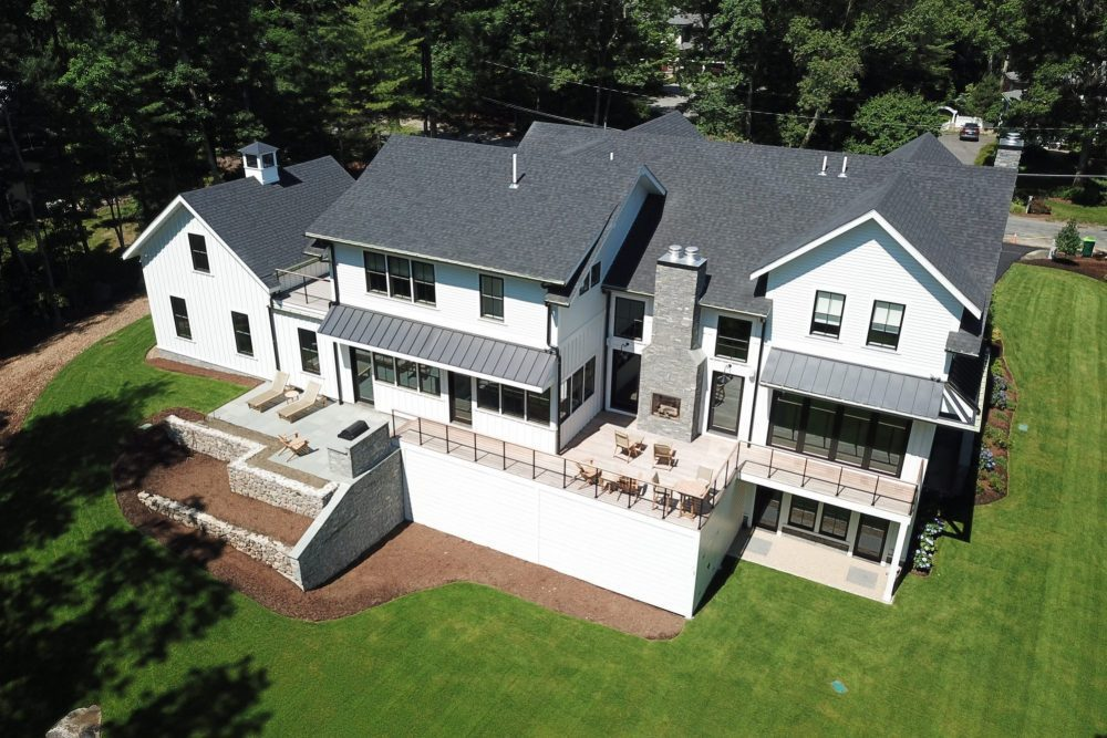 Aerial Photo of Architecture in Weston, MA
