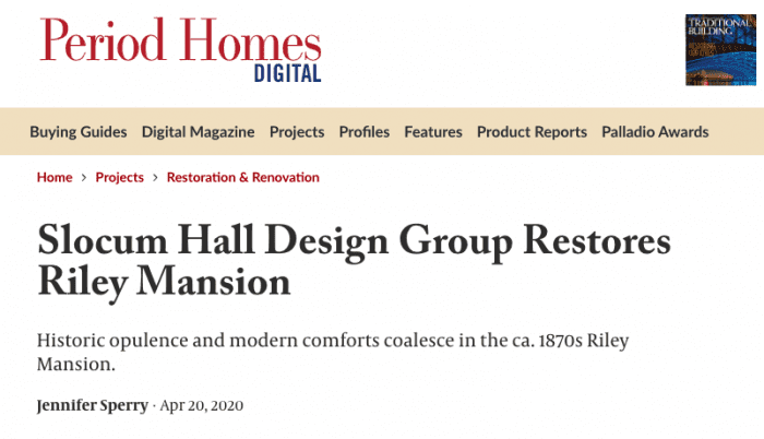Period Homes Article Screenshot