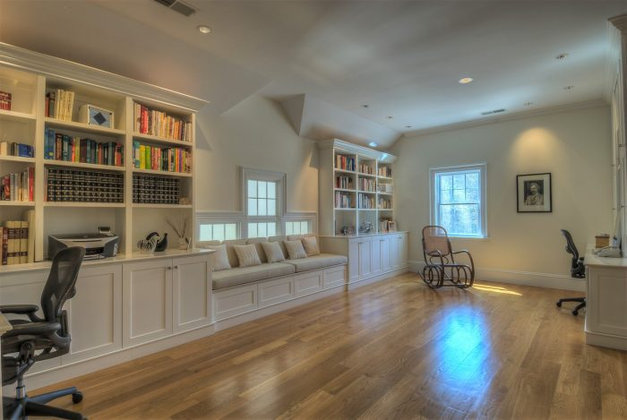spacious home workspace