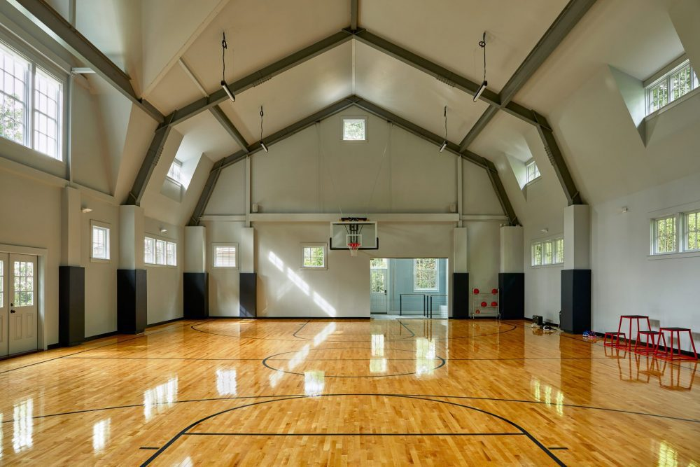 Photo of indoor basketball court in Wellesley, MA residence