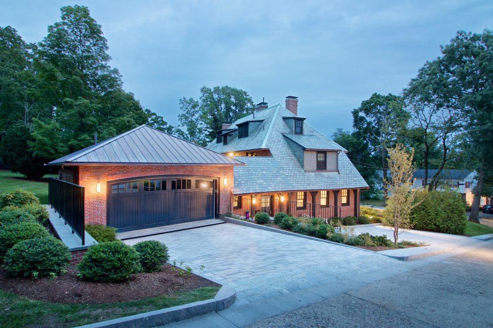 Home Addition Architect Aronson garage and driveway